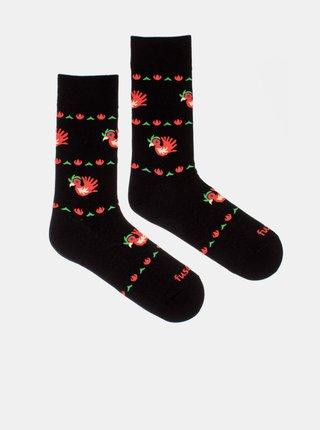 Černé vzorované ponožky Fusakle Kohout