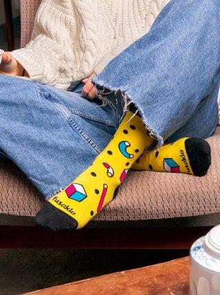 Žlté vzorované ponožky Fusakle Rubikon