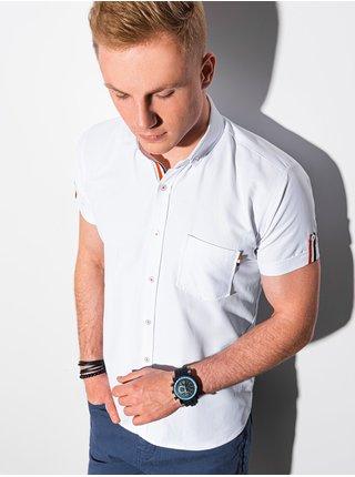 Pánska košeľa s krátkym rukávom K489 - biela