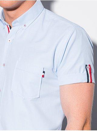 Pánska košeľa s krátkym rukávom K489 - blankytná