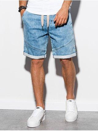 Pánske riflové kraťasy W219 - svetlo džínsové