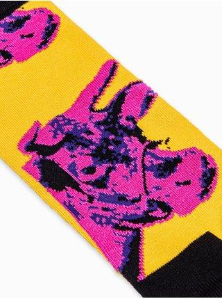 Pánské ponožky U94 - žlutá