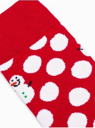 Pánske ponožky U95 - červená