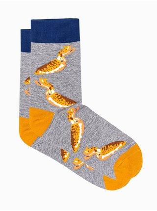 Pánské ponožky U108 - šedá