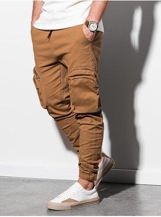 Pánske jogger nohavice P996 - ťavia