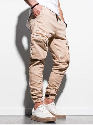 Pánske jogger nohavice P996 - béžová