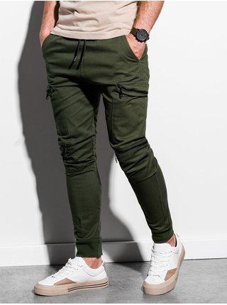 Pánske jogger nohavice P997 - khaki