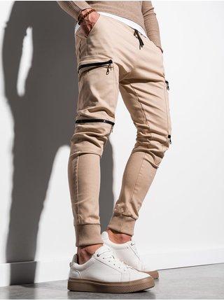 Pánske jogger nohavice P997 - béžová
