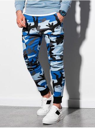 Pánske jogger nohavice P997 - maskáčová/nebesko modrá