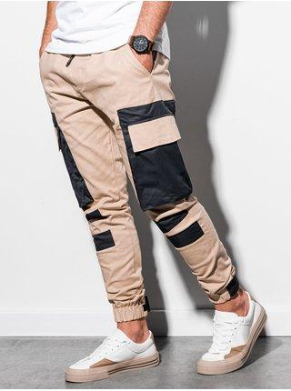 Pánske jogger nohavice P998 - béžová