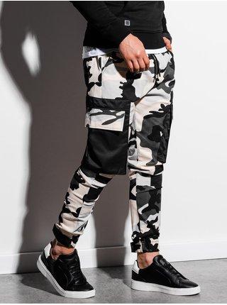Pánske jogger nohavice P998 - maskáčová/čierna