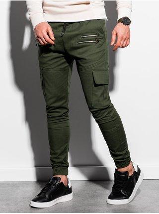 Pánske jogger nohavice P1000 - khaki