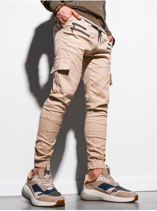 Pánske jogger nohavice P1000 - béžová