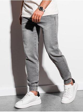 Pánske riflové jogger nohavice P933 - šedé