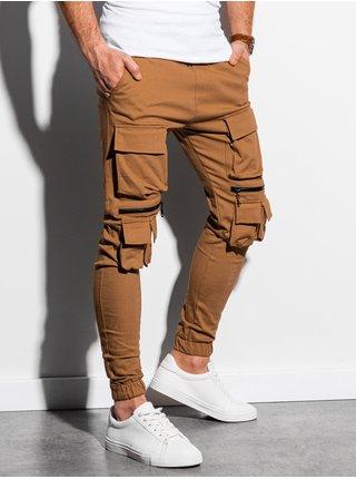 Pánské jogger kalhoty P995 - hnědá