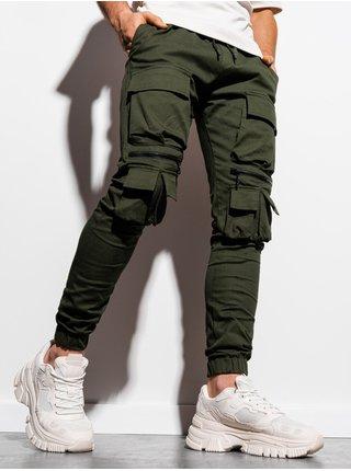 Pánske jogger nohavice P995 - khaki