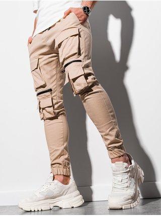 Pánské jogger kalhoty P995 - béžová