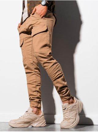 Pánské jogger kalhoty P925 - béžová