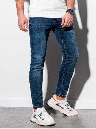 Pánske riflové nohavice P1007 - námornícka modrá