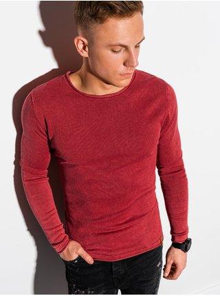Pánský svetr E180 - červený