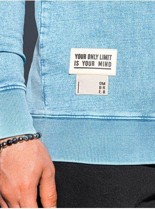 Pánská mikina bez kapuce B1173 - blankytně modrá