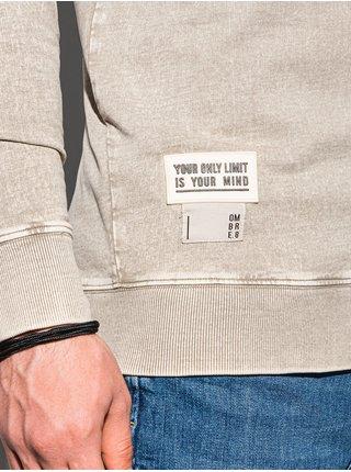 Pánská mikina bez kapuce B1173 - béžová
