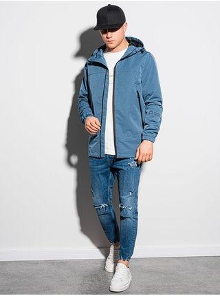 Pánská jarní bunda C478 - nebesky modrá