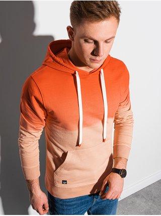 Pánská mikina s kapucí B1148 - oranžová