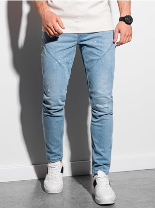 Pánske riflové nohavice P936 - nebesko modrá