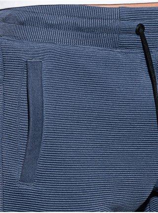 Pánské teplákové kraťasy W294 - tmavě nebesky modrá