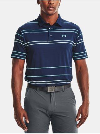Tmavě modré pánské funkční tričko Under Armour UA Playoff Polo 2.0