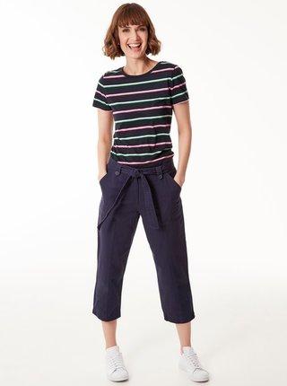 Tmavomodré 3/4 nohavice so zaväzovaním M&Co