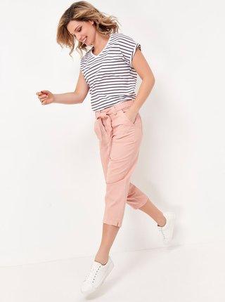 Ružové 3/4 nohavice so zaväzovaním M&Co