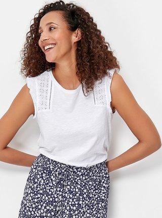 Bílá halenka s krajkovými detaily M&Co