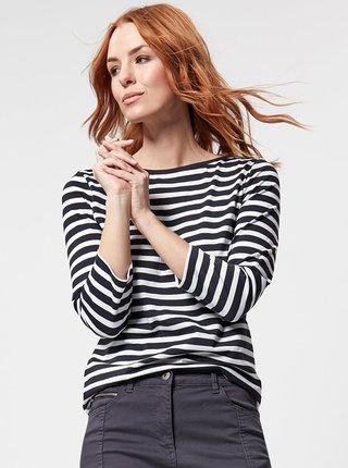 Bílo-modré pruhované basic tričko M&Co