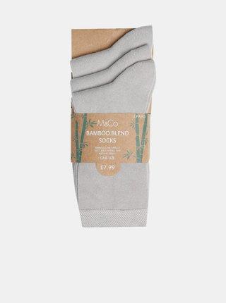 Sada troch párov šedých ponožiek M&Co