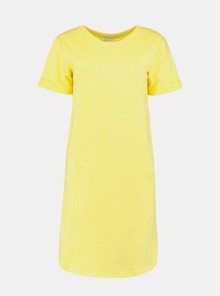 Žlté basic šaty Hailys