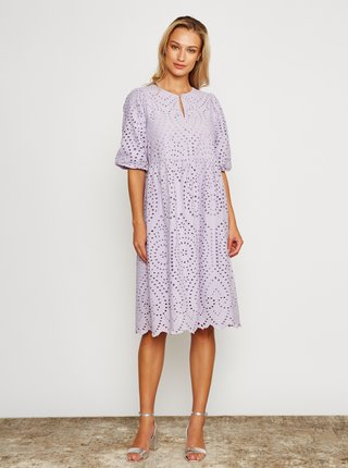 Světle fialové šaty s madeirou Ichi Ihfionn