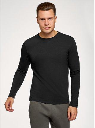 Tričko s dlhým rukávom bavlnené OODJI