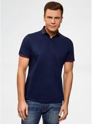 Košile vypasovaná s kontrastním lemováním OODJI