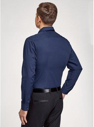 Košile vypasovaná s dvojitým límečkem OODJI