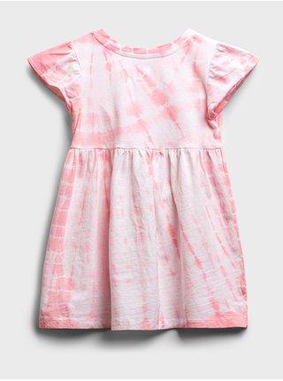 Růžové holčičí dětské šaty GAP Logo dress