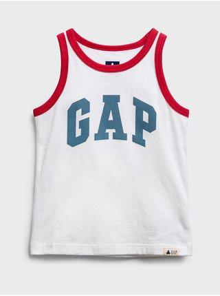 Bílé klučičí dětské tílko GAP Logo tank