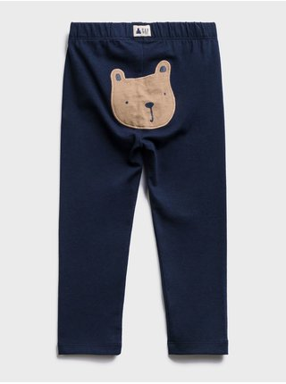 Modré holčičí dětské legíny bear