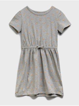 Šedé holčičí dětské šaty knit skater dress