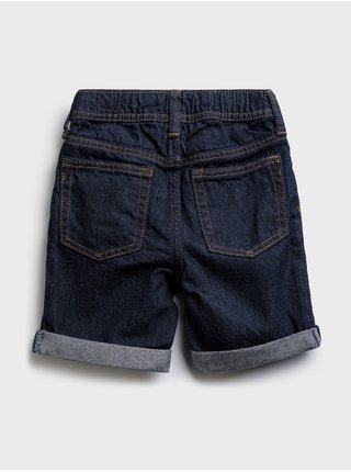 Modré klučičí dětské džínové kraťasy pull-on denim shorts
