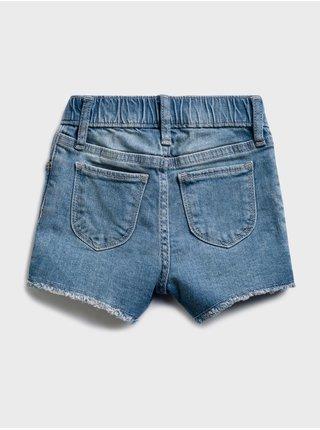 Modré holčičí dětské džínové kraťasy emble denim shorts