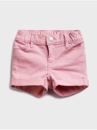 Růžové holčičí dětské džínové kraťasy denim shorts