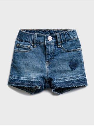 Modré holčičí dětské džínové kraťasy pitch shorts