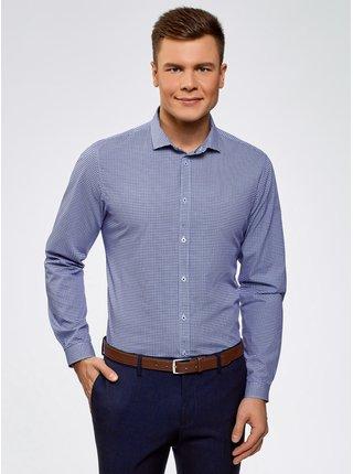 Košile bavlněná s drobným vzorečkem OODJI